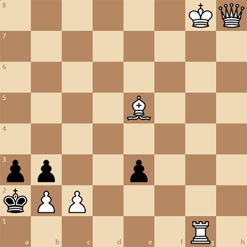 Мат в 2 хода, решите шахматную задачу