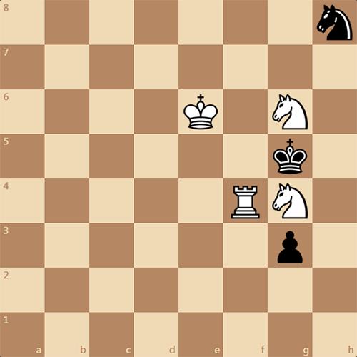 Задача по шахматам, мат в 5 ходов