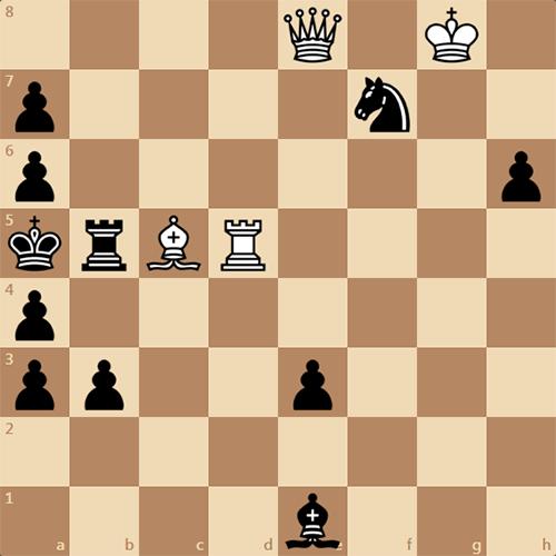 Белые ставят мат в 3 хода