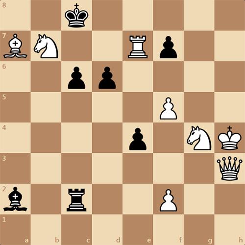 Довольно сложный мат в 3 хода