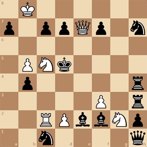 Сложная задача по шахматам, мат в 4 хода