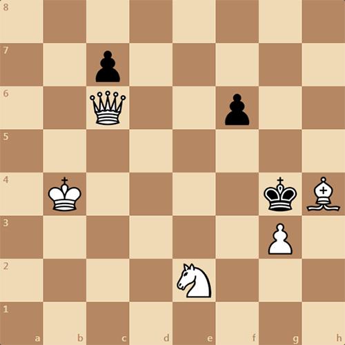 Задача: белые матуют в 3 хода