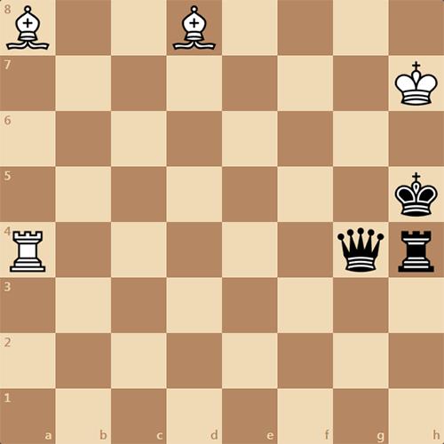 Задача по шахматам, мат в 2 хода 1912 года