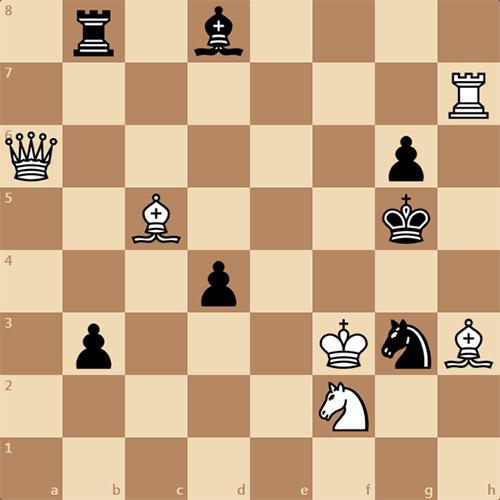 Мат в 2 хода, занимательная задача по шахматам