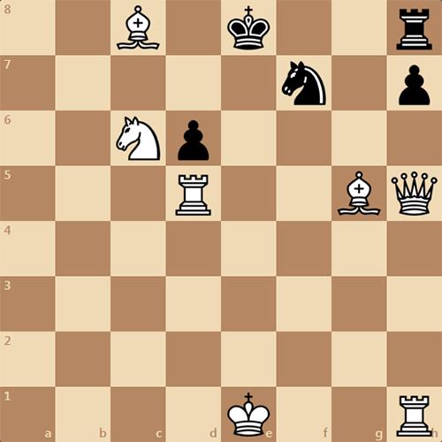 Интересная шахматная задача, мат в 2 хода