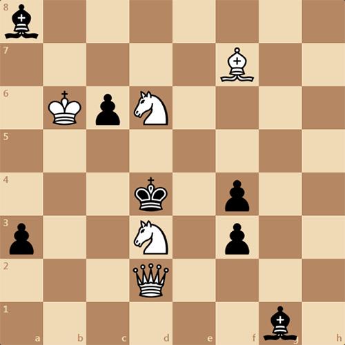 Качественная трехходовка, задача по шахматам
