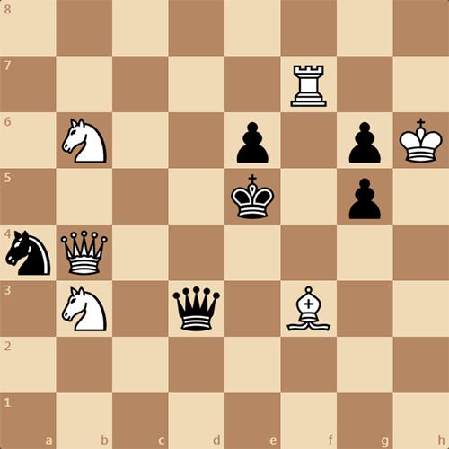 Неожиданный мат черным в 2 хода