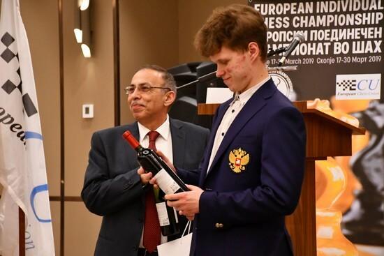 Открытие чемпионата Европы по шахматам 2019, Артемьев