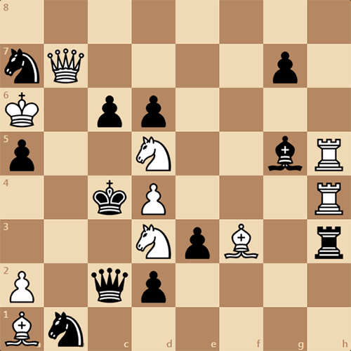 Шахматная задача, поставьте мат на 2 ходу