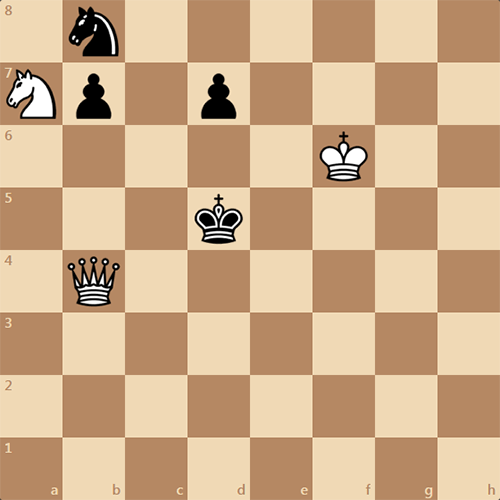 Решите простую задачу, мат в 2 хода