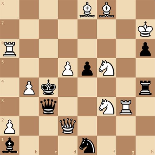 Увлекательная шахматная задача, мат в 2 хода