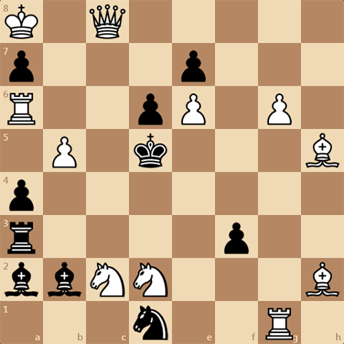 Мат в 2 хода, решите задачу М. Барулина
