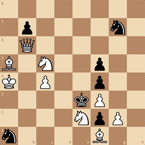 Шахматная задача для любителей, мат в 2 хода