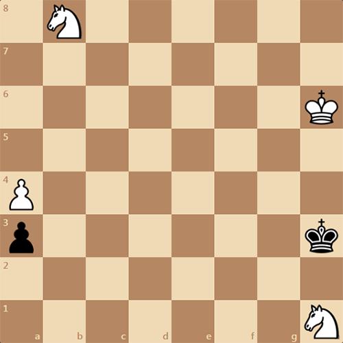 Шахматный этюд, пешка рвется в ферзи