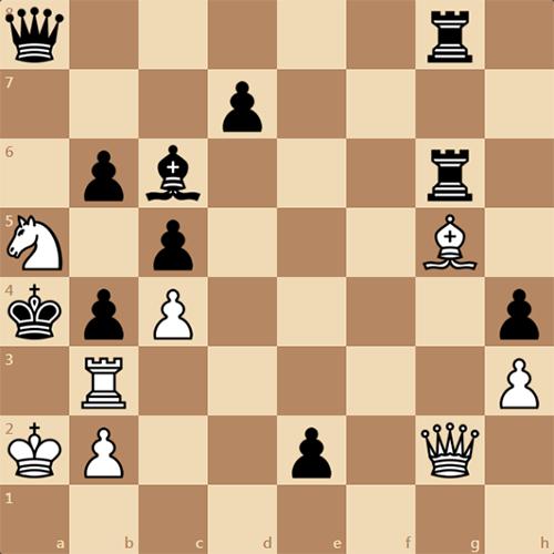 Интересный шахматный этюд