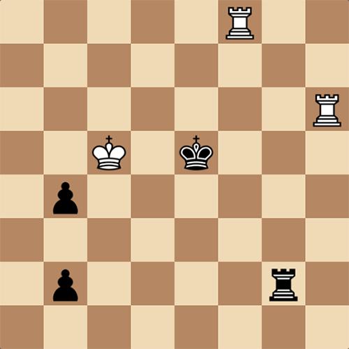 Шахматный этюд, битва ладей