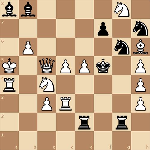 Гроссмейстерская задача, мат в 3 хода