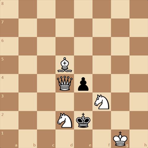 Задача с простым условием, мат в 2 хода