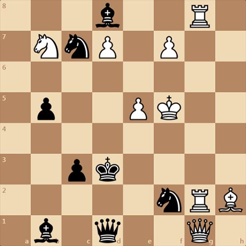 Черные ставят мощный мат в 1 ход белым