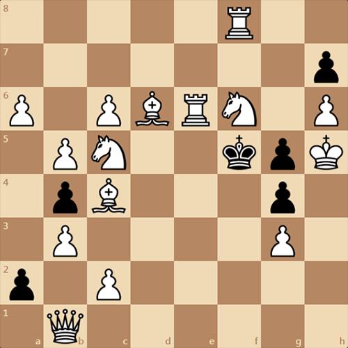 Красивый обратный мат в 4 хода