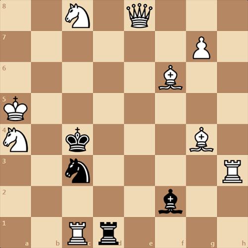 Белые дают мат в 1 ход черным