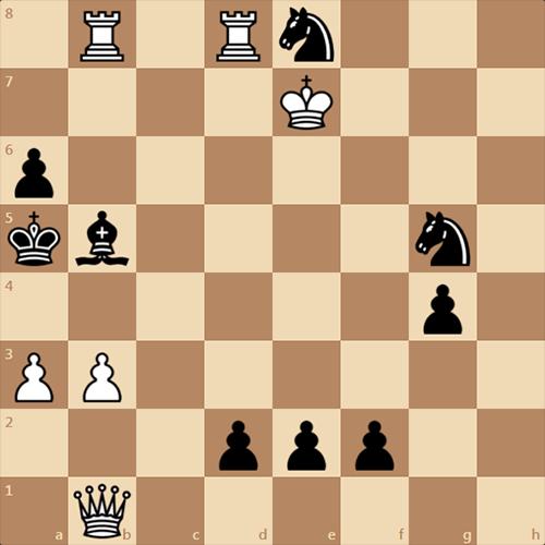 Сильная задача Адольфа Андерсена, мат в 5 ходов