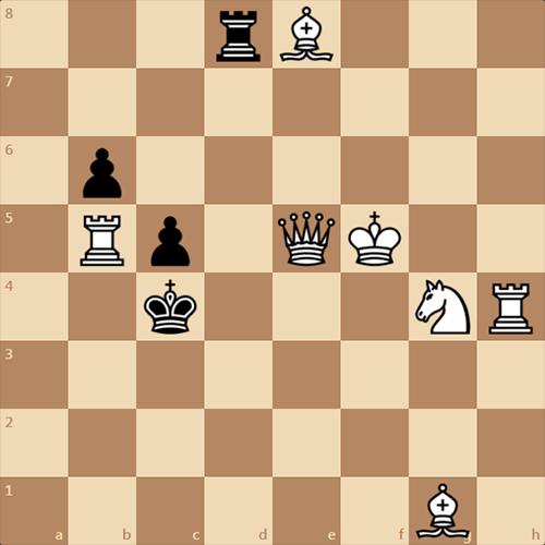 Поставьте черным мат в 2 хода