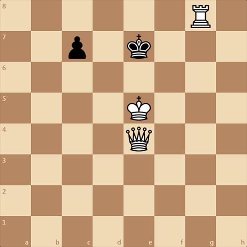 Поставьте черному королю мат в 1 ход