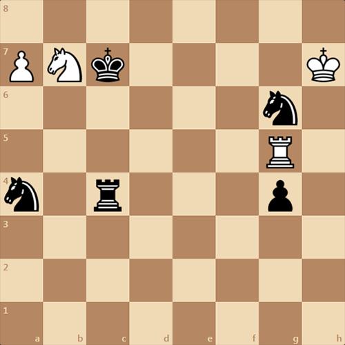 Шахматы, интересный этюд, ничья