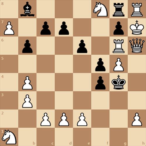 Могут ли белые здесь поставить мат в 4 хода?