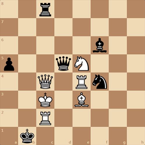 Черные ставят мат белым в 1 ход