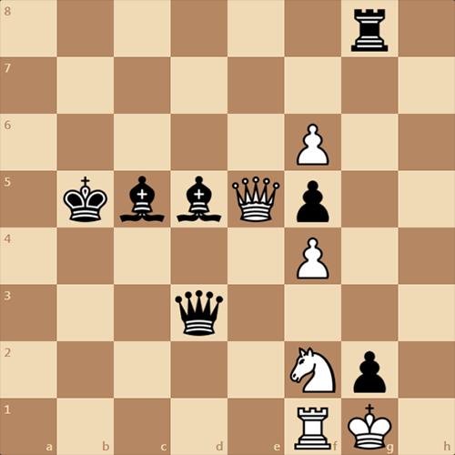 Белые получают мат в 1 ход