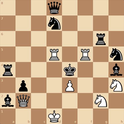 Разминка для шахматистов! Мат в 2 хода