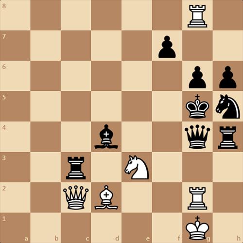 Мат в 1 ход для для II-III разряда